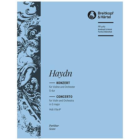Haydn, J.: Violinkonzert G-Dur Hob VIIa:4* – Partitur