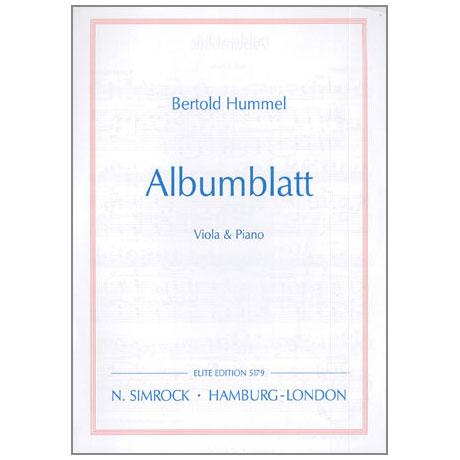 Hummel, B.: Albumblatt