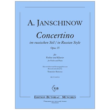 Janschinow, A.: Concertino im russischen Stil Op. 35