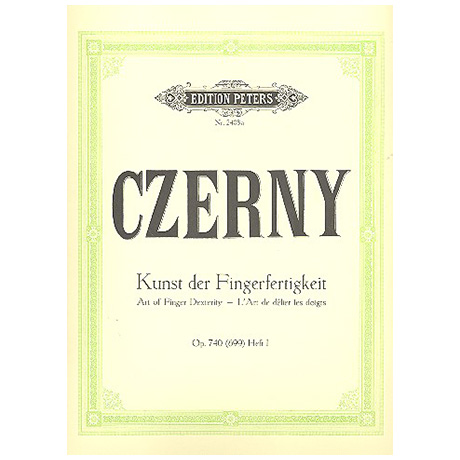 Czerny, C.: Kunst der Fingerfertigkeit Band I