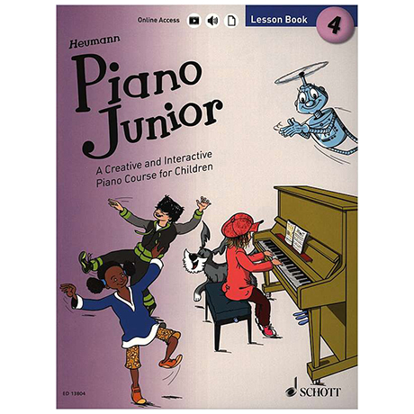 Heumann, H.-G.: Piano Junior – 4 Lesson Book (+Online Audio)