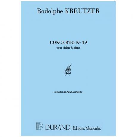 Kreutzer, R.: Violinkonzert Nr. 19 d-Moll