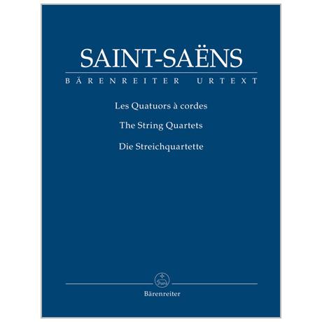 Saint-Saëns, C.: Streichquartette Op. 112 und Op. 153 – Partitur