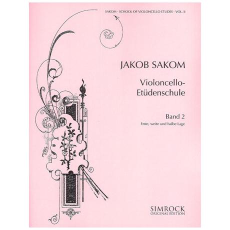 Sakom: Violoncello-Etüden-Schule Heft 2
