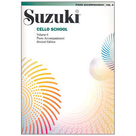 Suzuki Cello School Vol.6 – Piano Accompaniment