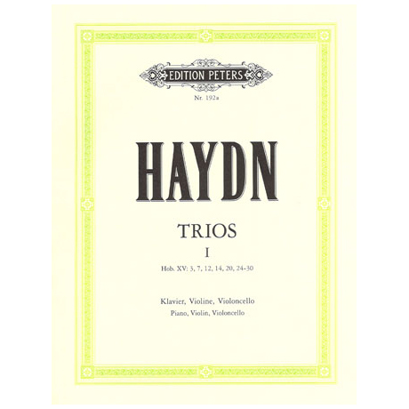 Haydn, J.: Klaviertrios Band 1, Hob XV: 3, 7, 12, 14, 20, 24-30