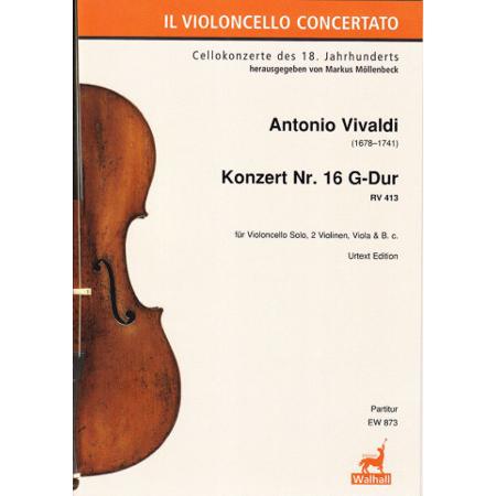 Vivaldi, A.: Violoncellokonzert Nr. 16 RV 413 G-Dur – Partitur