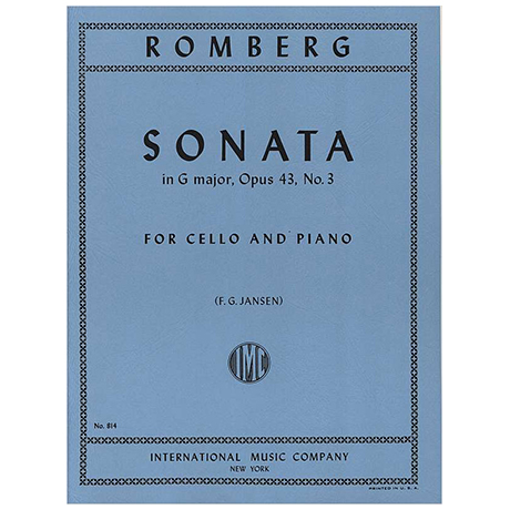 Romberg, B. H.: Sonate G-Dur Op. 43 Nr. 3