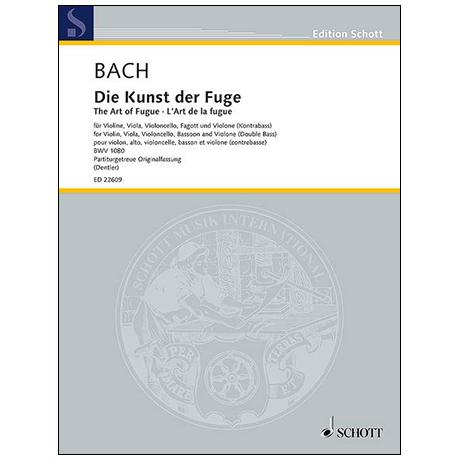 Bach, J. S.: Die Kunst der Fuge BWV 1080 – Partitur