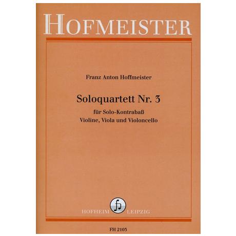 Hoffmeister, F.A.: Solo-Quartette Nr.3