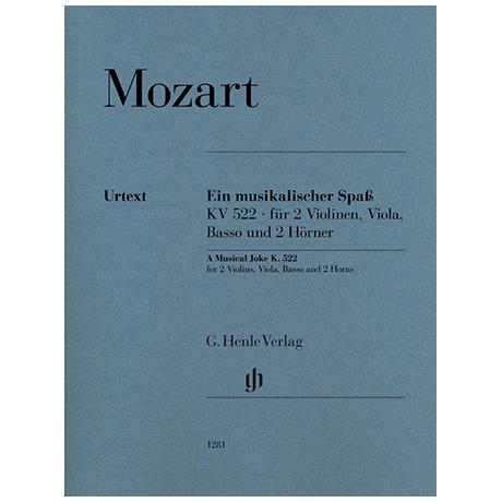 Mozart, W. A.: Ein musikalischer Spaß KV 522 »Dorfmusikanten-Sextett« – Stimmen