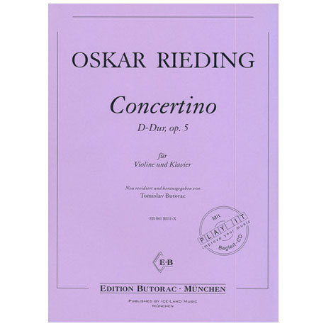 Rieding, O.: Concertino Op. 5 D-Dur (+CD)