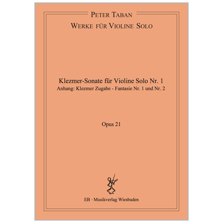 Taban, P.: Klezmer Sonate Nr. 1 Op. 21