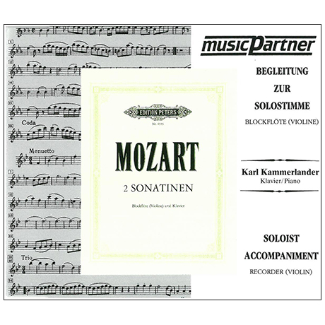 Mozart, W. A.: 2 Sonatinen nach KV 439b – Playalong-CD