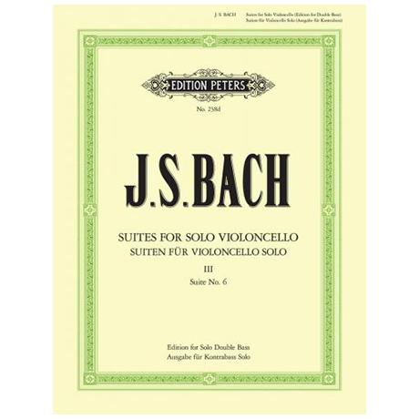 Bach, J. S.: Solosuite Nr. 6 BWV 1012 D-Dur