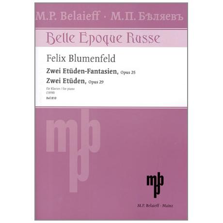 Blumenfeld, F.: Zwei Etüden-Fantasien Op.25 - Zwei Etüden Op.29
