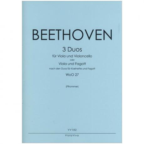 Beethoven, L. v.: 3 Duos WoO27