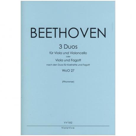 Beethoven, L. v.: 3 Duos WoO27