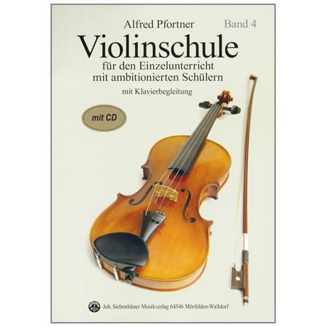 Pfortner, A.: Violinschule Band 4 (+CD)