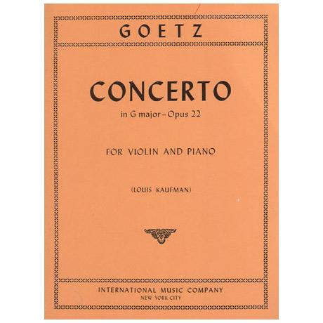 Götz, H.: Konzert in G-Dur op. 22