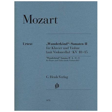 Mozart, W. A.: »Wunderkind«-Sonaten Band II KV 10-15