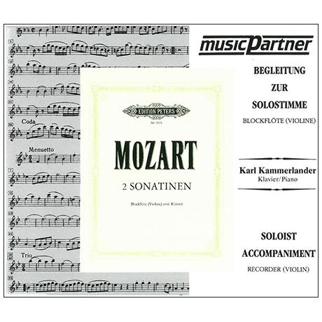 Mozart, W. A.: 2 Sonatinen nach KV 439b – Playalong-CD