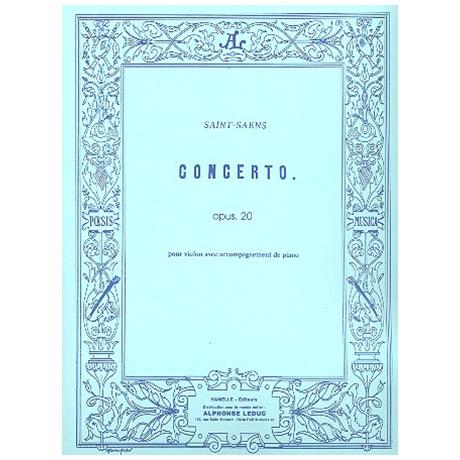 Saint-Saëns, C.: Violinkonzert Nr. 1 Op. 20 A-Dur