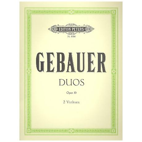 Gebauer, M.: 12 leichte Duette Op.10