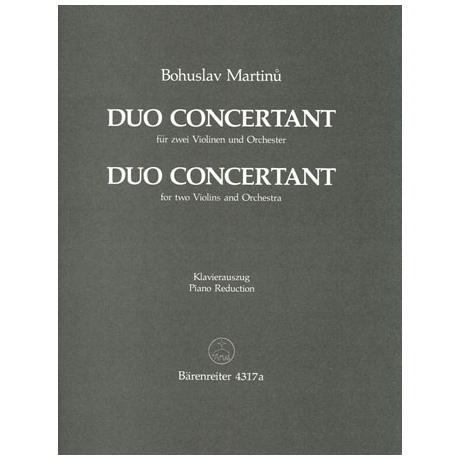 Martinu, B.: Duo concertant (1937)
