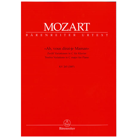 Mozart, W.A.: Variationen über Ah, vous dirai-je Maman