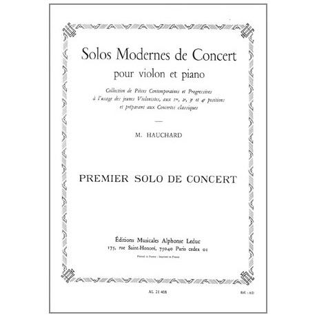 Hauchard, M.: Solo moderne de concert no.1