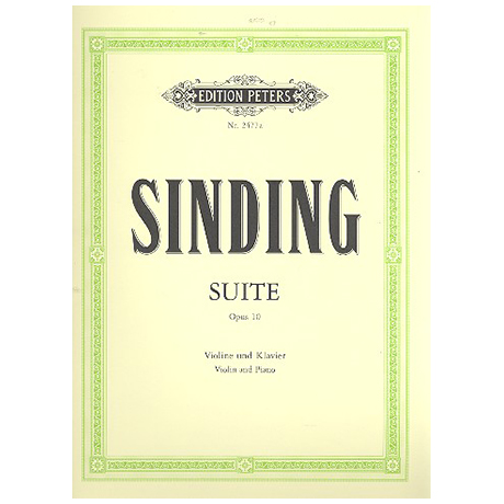 Sinding, C.: Suite Op. 10 a-Moll