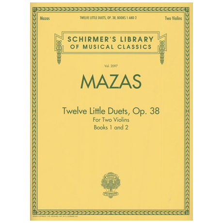 Mazas, J-F.: Twelve Little Duets Op.38 Band 1 & 2