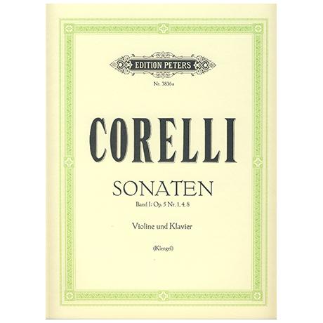 Corelli, A.: Violinsonaten Op. 5 Band 1 (Nr. 1, 4, 8)