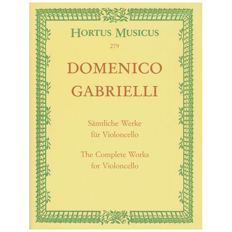Gabrielli, D.: Sämtliche Werke