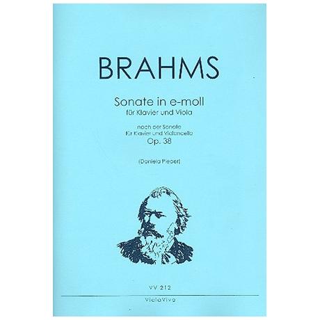 Brahms, J.: Violasonate e-Moll nach Op. 38