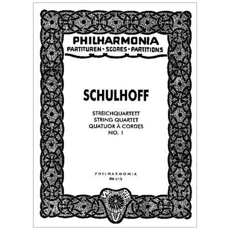 Schulhoff, E.: Streichquartett Nr. 1 – Partitur