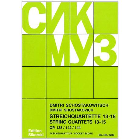 Schostakowitsch, D.: Streichquartette Nr. 13-15
