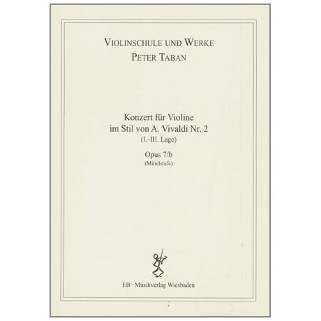 Taban, P.: Violinkonzert im Stil von A. Vivaldi Nr. 2  Op. 7/b