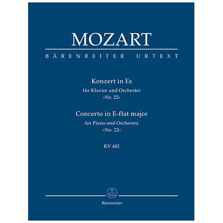 Mozart, W. A.: Konzert für Klavier und Orchester Nr. 22 Es-Dur KV 482