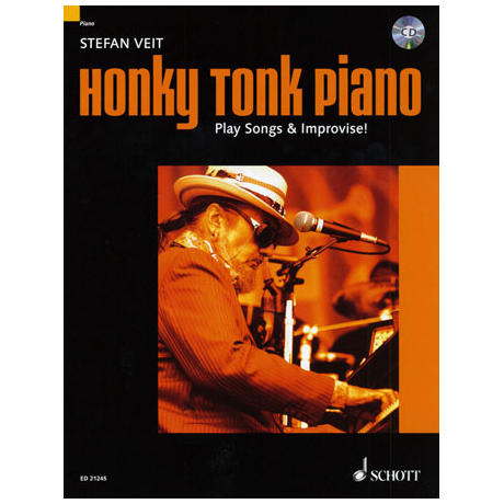 Veit, Stephen: Honky Tonk Piano – Play Songs & Improvise!