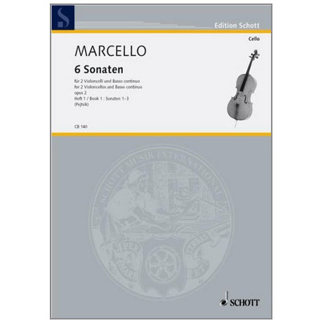 Marcello, B.: 6 Sonaten Band 1 Nr. 1-3