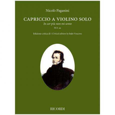 Paganini, N.: Capriccio a violino solo »In cor più non mi sento« M.S. 44