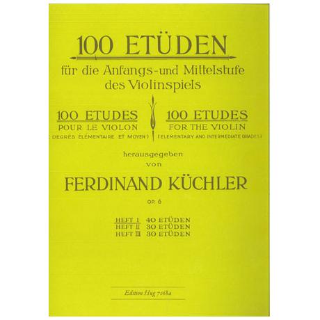 Küchler, F.: 100 Etüden Op. 6 Band 1