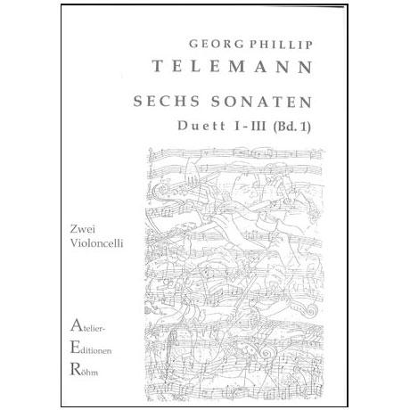 Telemann, G.Ph.: Sechs Duette (Sonaten) Bd. 1, Sonate I bis III