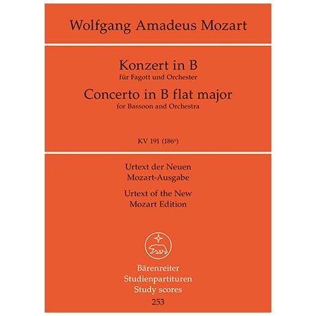 Mozart, W. A.: Konzert für Fagott und Orchester B-Dur KV 191 (186e)