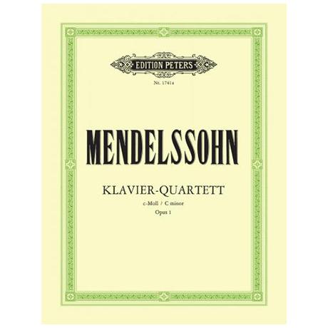 Mendelssohn Bartholdy, F.: Klavierquartett Nr. 1 c-Moll, Op. 1