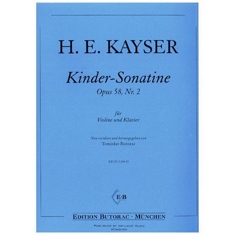 Kayser, H.E.: Kinder-Sonatine op. 58/2