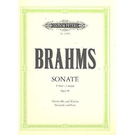 Brahms, J.: Cellosonate Nr. 2 F-Dur, op. 99 (Klengel)