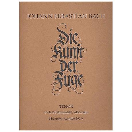 Bach, J. S.: Die Kunst der Fuge BWV 1080 – Viola oder Viola da Gamba
